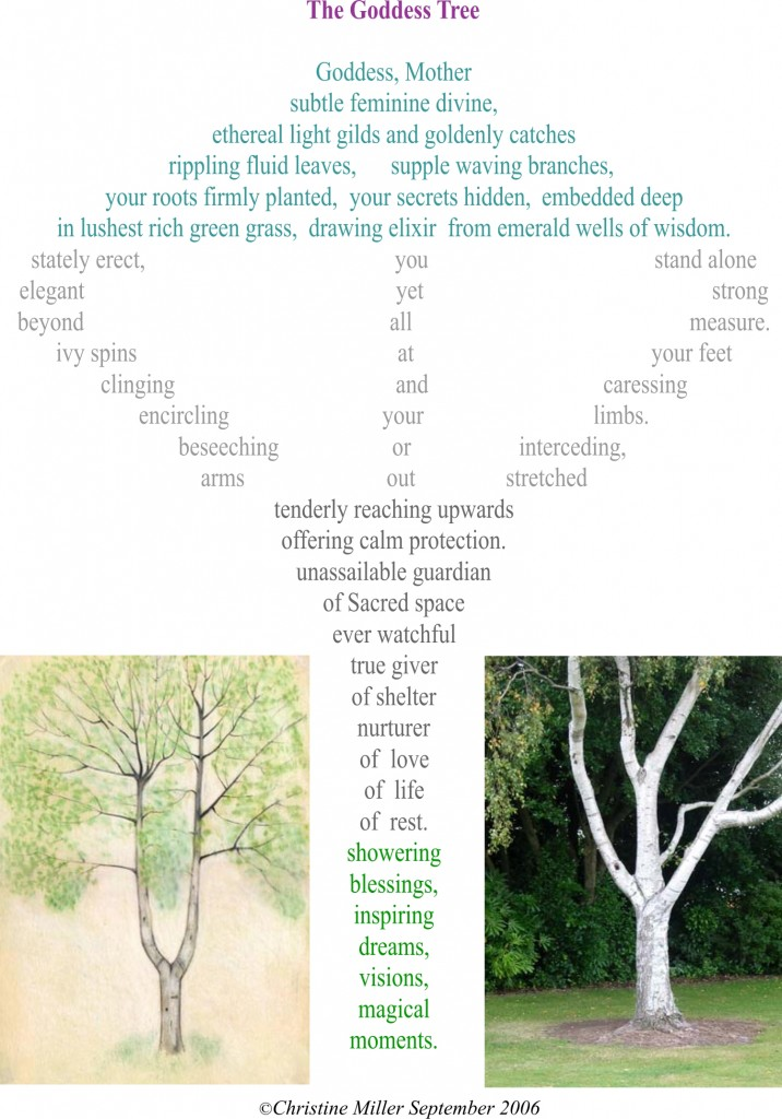 the goddess tree poem by Christine Miller